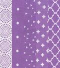 Charm Pack Cotton Fabric 30 Strips 5\u0027\u0027-Assorted Purple Patterns
