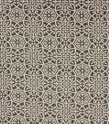 Optimum Performance Acrylic Fabric 54''-Pewter Geometrics
