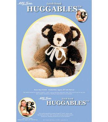 "MCG Textiles Huggables Bear Stuffed Animal Latch Hook Kit-20"" Tall"