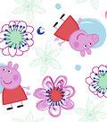 Peppa Pig Flannel Fabric 42\u0022-Flowers