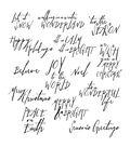 Tim Holtz Cling Rubber Stamp Set 7\u0022X8.5\u0022-Handwritten