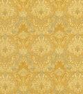 Vintage Cotton Fabric 43\u0022-Tonal Yellow Damask