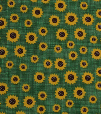 "Holiday Showcase™ Harvest Cotton Fabric 43""-Mini Sunflowers"