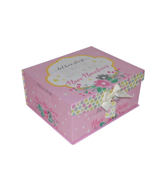 High Quality Organizing Essentials™ Medium Flip Top Box Hello World