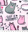 Blizzard Fleece Fabric 59\u0027\u0027-Cat Naps