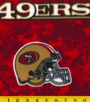 "San Francisco 49ers Fleece Fabric 58""-Digital, , hi-res"