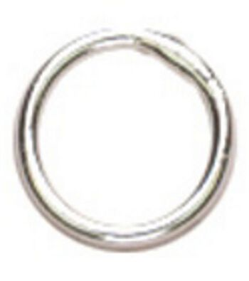 Cousin Silver Elegance 6mm Closed Jump Ring-16PK/Sterling Silver