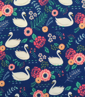 "Doodles® Juvenile Apparel Fabric 57""-Swan Lake Interlock"