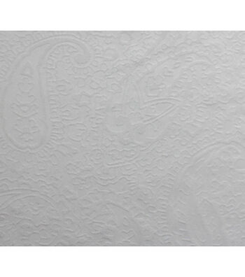 Silky Solid Jacquard Fabric 54''-White