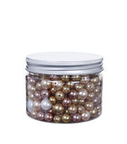 hildie & jo™ 4.93 oz. Fashion Beads in Plastic Jar-Gold & White, , hi-res