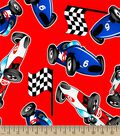 Start Your Engines Print Fabric