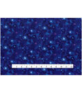 Keepsake Calico Cotton Fabric 43\u0027\u0027-Metallic & Dark Blue Galaxy