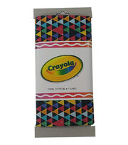 Crayola® Fabric 1yd Cut-Triangle Multi Black, , hi-res