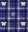 University of Washington Huskies Fleece Fabric 58\u0022-Plaid