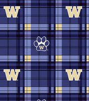 "University of Washington Huskies Fleece Fabric 58""-Plaid, , hi-res"