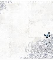 Kaisercraft Indigo Skies Foiled & Die-Cut Cardstock-Choose Happiness, , hi-res