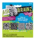 AirBrainz Airbrush Stencils 4/Pkg-Wild Side 4\u0022X4\u0022