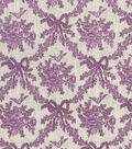 Vintage Cotton Fabric 43\u0022-Floral Bow Diamond Purple