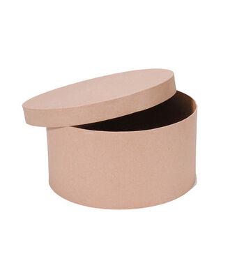 "Darice 12"" Paper Mache Hat Box"