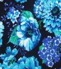 Anti-Pill Fleece Fabric 59\u0022-Peacock Floral