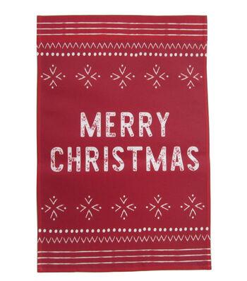 Maker's Holiday Christmas 12''x18'' Flag-Merry Christmas