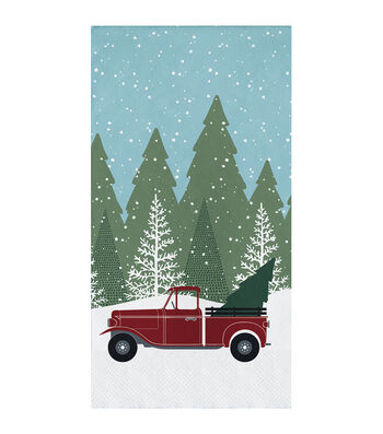 Maker's Holiday Christmas 16 pk Napkins-Winter Drive