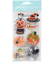 Jolee's Boutique Dimensional Stickers-Pumpkin Snow Globes, , hi-res