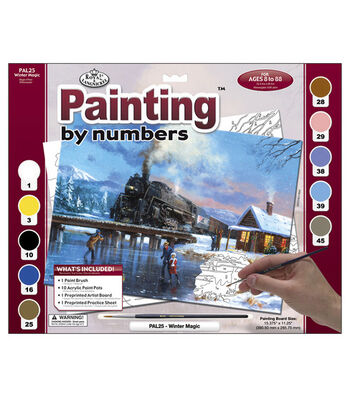 """15-3/8""""x11-1/4"""" Adult Paint By Number Kit-Winter Magic"""
