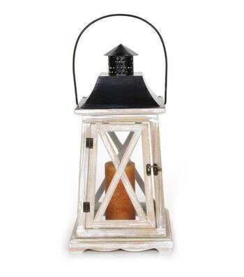 Wooden Lantern-9 x 9 x 18 inches