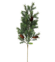 Blooming Holiday Christmas Angel Pine & Pinecone Spray-Green & Brown, , hi-res