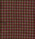 Homespun Cotton Fabric  43\u0022-Green Pink Plaid