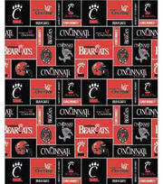 "University of Cincinnati Bearcats Fleece Fabric 58""-Block, , hi-res"
