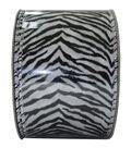 Decorative Ribbon 2.5\u0027\u0027 X 15\u0027-Zebra