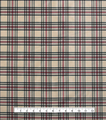 "Anti-Static Lining Fabric 58""-Cream Plaid"