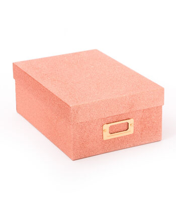 DCWV Photo Storage Box-Rose Gold