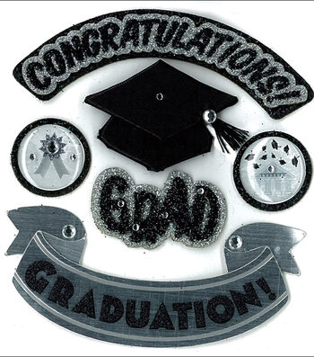 Jolee's Boutique Dimensional Stickers-Hats Of Grad