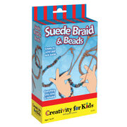 Creativity for Kids® Suede Braid & Beads, , hi-res