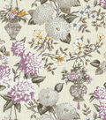 P/K Lifestyles Print Fabric-Lightfoot Garden/Black Orchid