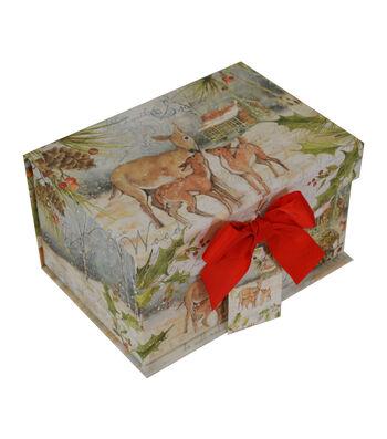 Maker's Holiday Small 2 Flip Top Box-Winter Rustic