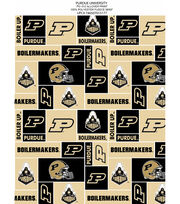 Purdue University Boilermakers Fleece Fabric 58''-Block, , hi-res