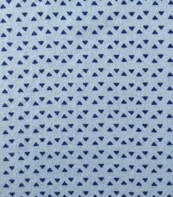 Doodles® Juvenile Apparel Fabric 57''-Blue Tiny Triangles
