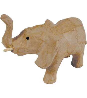 "Paper Mache Figurine 4.5""-Elephant"