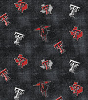"Texas Tech University Red Raiders Flannel Fabric 42""-Distressed Logo, , hi-res"