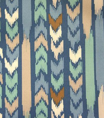 "Outdoor Fabric 55""-Aztec Stripe Blue"