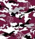 Texas A&M University Aggies Cotton Fabric 43\u0022-Camo