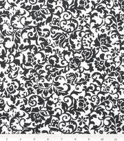 Keepsake Calico™ Cotton Fabric 43''-Black Scroll Damask, , hi-res
