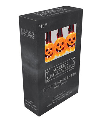 Maker's Halloween 10ct Pumpkin LED Light Set
