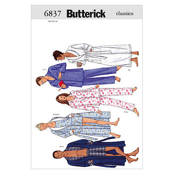 Butterick Pattern B6837 Adult Sleep & Lounge-Size XS-S-M