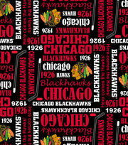 Chicago Blackhawks Cotton Fabric 43''-Writing, , hi-res