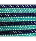 Azure Tide Pool-Stripe Open Weave Navy Teal